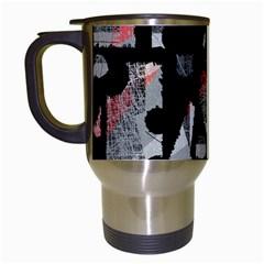 Red shadows Travel Mugs (White)