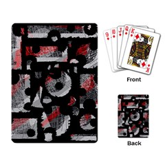 Red shadows Playing Card