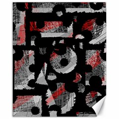 Red shadows Canvas 16  x 20