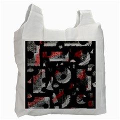 Red shadows Recycle Bag (One Side)