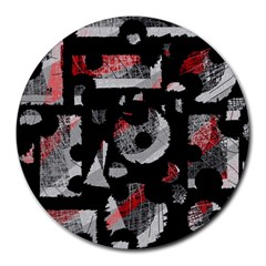 Red Shadows Round Mousepads