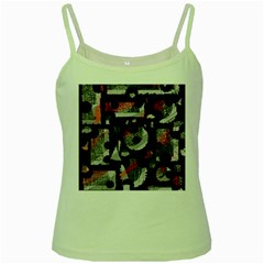 Red shadows Green Spaghetti Tank
