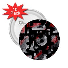 Red shadows 2.25  Buttons (10 pack)