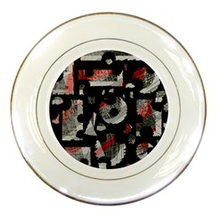 Red shadows Porcelain Plates