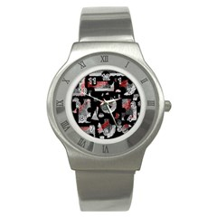 Red shadows Stainless Steel Watch