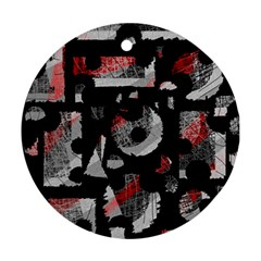Red shadows Round Ornament (Two Sides)