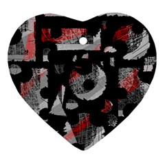 Red shadows Heart Ornament (2 Sides)