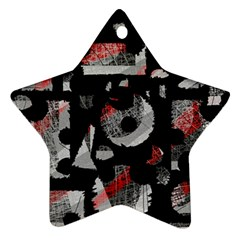 Red shadows Star Ornament (Two Sides)