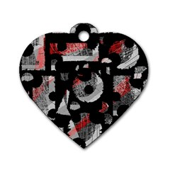 Red shadows Dog Tag Heart (One Side)