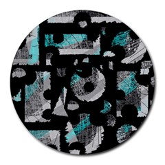 Blue shadows  Round Mousepads