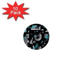 Blue shadows  1  Mini Buttons (10 pack)