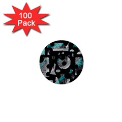 Blue shadows  1  Mini Buttons (100 pack)
