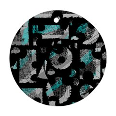Blue shadows  Round Ornament (Two Sides)