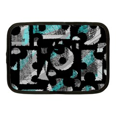 Blue shadows  Netbook Case (Medium)