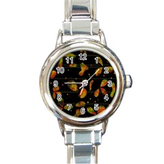 Floral abstraction Round Italian Charm Watch