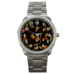 Floral abstraction Sport Metal Watch