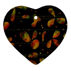 Floral abstraction Heart Ornament (2 Sides)