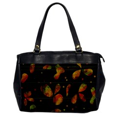 Floral abstraction Office Handbags