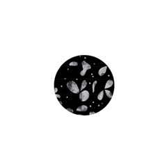 Black and white floral abstraction 1  Mini Buttons