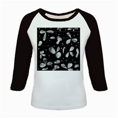 Black and white floral abstraction Kids Baseball Jerseys