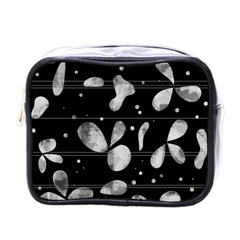 Black and white floral abstraction Mini Toiletries Bags