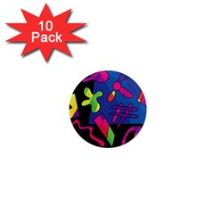 Colorful shapes 1  Mini Magnet (10 pack)