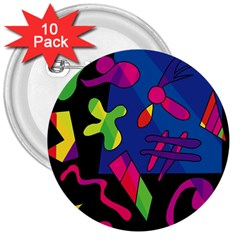 Colorful shapes 3  Buttons (10 pack)