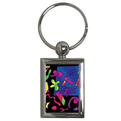Colorful shapes Key Chains (Rectangle)