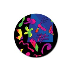 Colorful shapes Magnet 3  (Round)