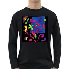 Colorful shapes Long Sleeve Dark T-Shirts