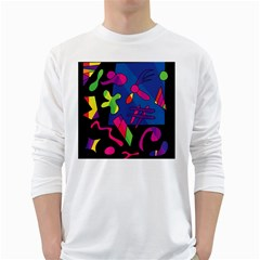 Colorful shapes White Long Sleeve T-Shirts