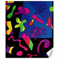 Colorful shapes Canvas 8  x 10