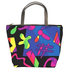 Colorful shapes Bucket Bags