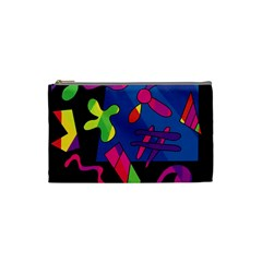 Colorful shapes Cosmetic Bag (Small)