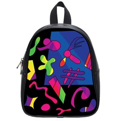 Colorful shapes School Bags (Small)