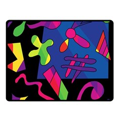 Colorful shapes Fleece Blanket (Small)
