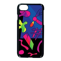 Colorful Shapes Apple Iphone 7 Seamless Case (black)