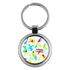 Playful shapes Key Chains (Round)