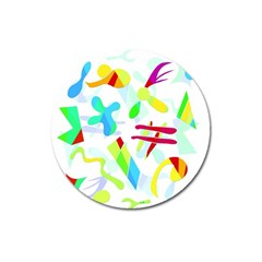 Playful shapes Magnet 3  (Round)