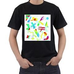 Playful shapes Men s T-Shirt (Black)