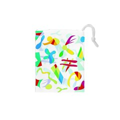 Playful shapes Drawstring Pouches (XS)