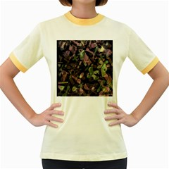 Depression  Women s Fitted Ringer T-Shirts