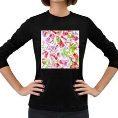 Summer Women s Long Sleeve Dark T-Shirts