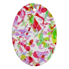 Summer Oval Ornament (Two Sides)