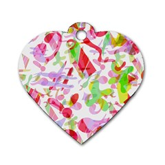 Summer Dog Tag Heart (Two Sides)