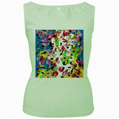 Colorful pother Women s Green Tank Top