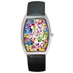 Colorful pother Barrel Style Metal Watch