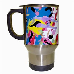 Colorful pother Travel Mugs (White)