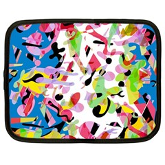 Colorful pother Netbook Case (Large)