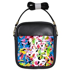 Colorful pother Girls Sling Bags